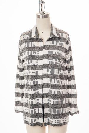 1142A-361-blouse-adapté-rayé charcoal