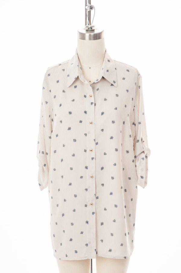 1142A-423- blouse-adapté-rayé beige